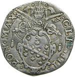 CLEMENTE VIII  (1592-1605)  Testone 1593, ...