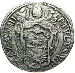 PAOLO V  (1605-1621)  Testone A. VIII, Roma. ...