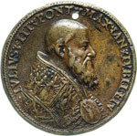 GIULIO III  (1550-1555)  Med. A. Jub.  D/ ...