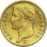 NAPOLEONE I  (1804-1814)  20 Franchi 1807 A ...