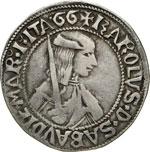 CARLO I il Guerriero  (1482-1490)  Testone ...