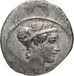 CARISIA - T. Carisius  (46 a.C.)  Denario.  ...