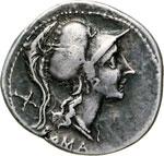 ANONIME  (115-114 a.C.)  Denario.   B. 176   ...