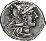 ANONIME  (189-180 a.C.)  Denario.   B. 35   ...