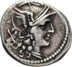 ANONIME  (211-170 a.C.)  Denario, simbolo ...