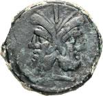ANONIME  (209-208 a.C.)  Asse, simbolo ramo. ...