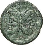 ANONIME  (211-208 a.C.)  Asse, simbolo ...